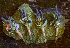 Portland Oregon wedding flowers - Mens boutonnieres