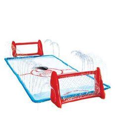 Slip 'N Slide Water Knee-Hockey Rink includes 1 Knee-Hockey Rink, 2 Knee-Hockey Sticks