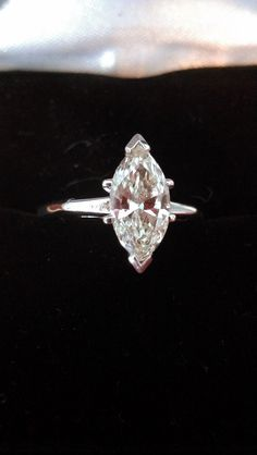 Gorgeous 14k gold 1.35ct Marquise Diamond Ring by MADAMECKERSON, $2995.00