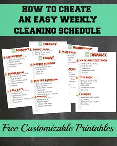 Creating A Weekly Cleaning Schedule That Works | Confessions of a Semi-Domesticated Mama