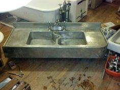 Genial German Nickel Silver Sink For Butler Pantry