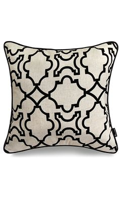 "Phantoscope Pureness Series Flock with Black Trim Decorative Throw Pillow Case Cushion Cover 18 ""X18 "" Best Price"