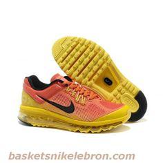 Nike Air Max 2013 Orange Jaune Vente Chaude Air Max Homme