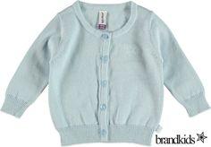 Babyface Fijn gebreid vest lichtblauw - Meisjes Jongens Baby Truien, Sweaters en Vesten €24,95