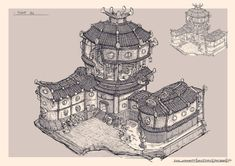 ArtStation - RTS Buildings, David Noren