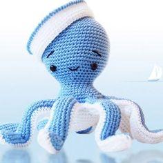 Sailor Octopus amigurumi crochet pattern by Pepika