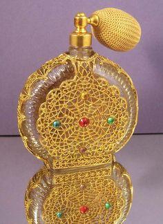 Jeweled Vintage Parfüm-Flasche mit Schorle