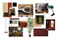 mood board for a home office