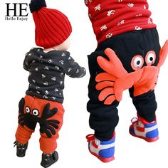 HE Hello Enjoy Baby boys pants Winter warm harem baby girl pants A crab With thick cotton baby boy trousers #>=#>=#>=#>=#> Click on the pin to check out discount price, color, size, shipping, etc. Save and like it!