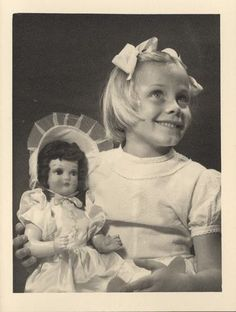 Photograph - L. J. Sterne Doll Co., Young Girl with Sterne Doll, Melbourne, circa 1950