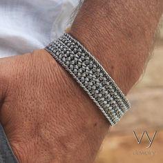 Jewelry OFF! Silver Flora 925 Sterling Silver Bracelet with Flowers - VY Jewelry Braided Bracelets, Silver Bangle Bracelets, Bracelets For Men, Silver Earrings, Mens Silver Jewelry, Sterling Silver Jewelry, Sea Glass Jewelry, Bracelet Sizes, Jewelry Shop