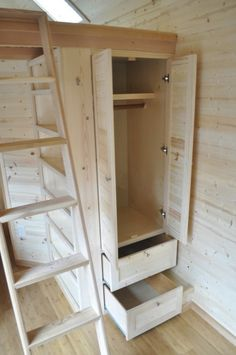 Tarleton Tiny House Has Great Closet Space/Storage is the one most important thing about a tiny home. Ideas like this one are simply priceless!