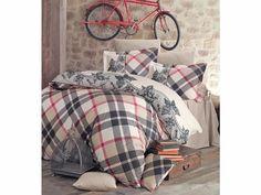 Bavlnené obliečky MERLIN 1 (Luxusné obliečky) - Kárované obliečky, ktoré dopĺňa decentný vzor Merlin, Comforters, Blanket, Bed, Creature Comforts, Quilts, Stream Bed, Blankets, Beds