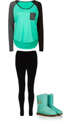 """""""Black and Turquoise"""" by maddie-kibbee on Polyvore"""