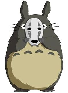 TOTORO SPIRITED AWAY MASK by alexcool