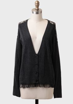 Tottenham Lace Detail Cardigan at #Ruche @Ruche