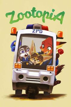 Judy Hopps, Nick Wilde and Finnick - Disney Zootopia