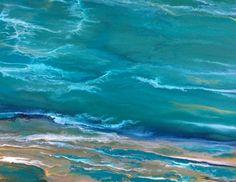Contemporary Abstract Seascape Painting by Colorado Contemporary Landscape Artist Kimberly Conrad -- Kimberly Conrad
