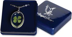 Four Leaf Clover Pendant with gift box