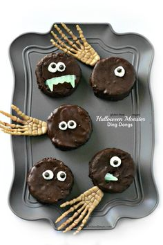 Halloween Monster Ding Dongs -  gluten-free and vegan