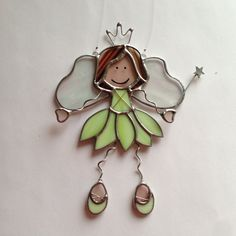 Stained Glass Fairy Princess Suncatcher