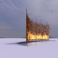 """Fire & Ice - Design Inspiration = Balance of Warm, Everchanging Fiery Light/Heat with Cool/Peaceful Uncluttered Ice... This Picture is Perfect Example of """"Less is More"""""""