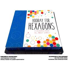 """I have a new book out! """"Hooray for Hexagons"""". Including circles, cardioids, spirals, fractals, impossible objects, mandalas, tessellations, parabolic curves, and even our friends the hypotrochoids! Many thanks to Buster Books and Michael O'Mara Books for making it happen and making the final product something to behold!"""