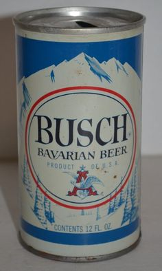 Vintage Steel Busch Bavarian Beer Can Pull Tab 83-A Product of USA 12 FL. OZ. #BuschBavarianBeer