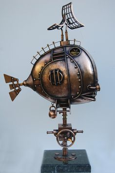 Nautilus - Alice Didkovskaya-Petrosyuk #Steampunk #Sculpture