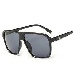 $8 Luxury Fashion Cool Mens Sunglasses Brand Designer Men Sun Glasses Man Sunglass Men's Retro Vintage Red Oversized Square Mirror