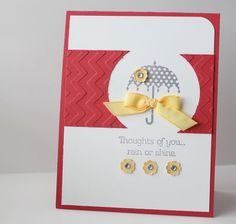 Love the way the focal image is framed - rain or shine stamp set