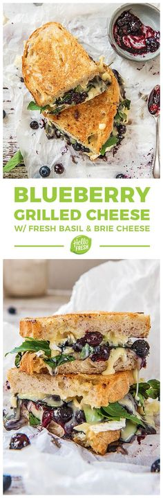 Super east blueberry and balsamic grilled cheese with fresh basil and brie cheese   More sandwich ideas and recipes on blog.hellofresh.com