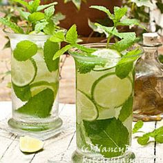 Nancy Baggett's Kitchenlane: The Secret to Memorable Mojitos--Good Rum, Zesty Mint, Fresh Limes