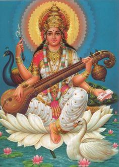 Image result for Images of Saraswathi Goddess o0f Learning-Ujjayni