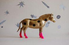 polka dot zebra//golden//the strange planet by thegoodmachinery, $95.00