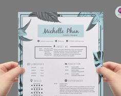 vintage cv template cover letter template reference letter template vintage background floral resume professional resume