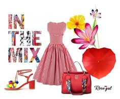 """""""Little red dress #39"""" by mercija ❤ liked on Polyvore featuring vintage"""