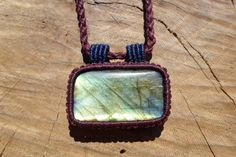 labradorite macrame pendant,macrame jewelry,gemstone pendant,macrame necklace,thread necklace,cabochon pendant,gift for her,healing gemstone by ARTEAMANOetsy on Etsy