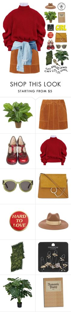 """""""Untitled #1539"""" by my-artsy-soul ❤ liked on Polyvore featuring Nearly Natural, Anna Sui, A.W.A.K.E., VALLEY, Chloé, PS Paul Smith, Slater Zorn and Topshop"""