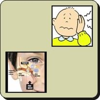 Purulent material to be removed through the nose is on the air pressure in the ears and sinuses. Therefore draining from the ears causing ear infections.
