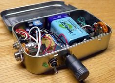 Not comfortable with a guitar amp in a cigarette box?  Try it in an Altoids tin!