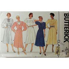 Misses' Dress Cummerbund Vintage Pattern Size 8 Butterick 3412 Retro Sewing c738 #Butterick
