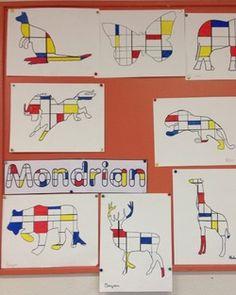 an d'Arts Plastiques en Segpa (ou cycle III Mondrian SegpaMondrian Segpa Piet Mondrian, Mondrian Kunst, Mondrian Art Projects, School Art Projects, Art School, Art Lessons For Kids, Art Lessons Elementary, Art For Kids, Elementary Schools