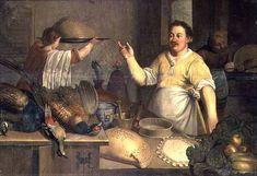 Bartolomeo Passarotti (Italian artist, 1529-1592) Baker Preparing Pies