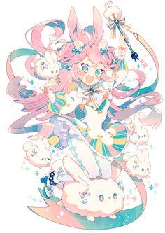 もふもふパレ~~ド Cute Anime Chibi, Kawaii Anime Girl, Anime Art Girl, Kawaii Drawings, Cute Drawings, Anime Style, Estilo Anime, Anime Animals, Kawaii Art
