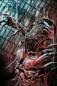 Carnage: Cletus Kasady is a psychopath and a homicidal sadist. He is a deeply disturbed individual with a dark past: as a child, he killed his grandmother by pushing her down a flight of stairs, tried to murder his mother by throwing a television into her bathtub, and tortured and killed his mother's dog. After the latter, his mother then tried to kill Cletus, and was apparently beaten to the brink of death by Kasady's father, who received no defense from Kasady during his trial. As an…
