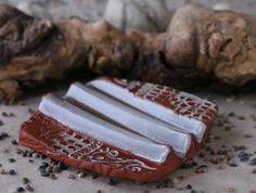 """Seifenschalen - Seifenablage """"Trockenwelle groß"""" - fliederbeige - ein Designerstück von SILKERAMIK bei DaWanda"""