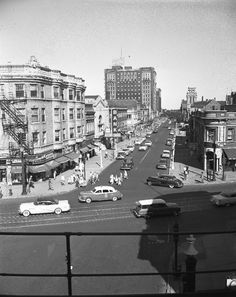Uptown Chicago History: Wilson and Broadway from the El Tracks, 1955