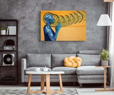 Home Decor Art Quality Canvas Print Cat Playing Poker Smoke 16x24