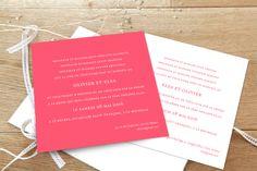 faire-part mariage Chic corail by Sibylle Derkenne pour www.Rosemood.fr #mariage #wedding #fairepart